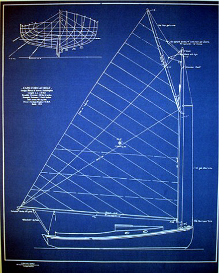 Cape cod catboat 1913 builders blueprint plan seajunk for Cape cod blueprints