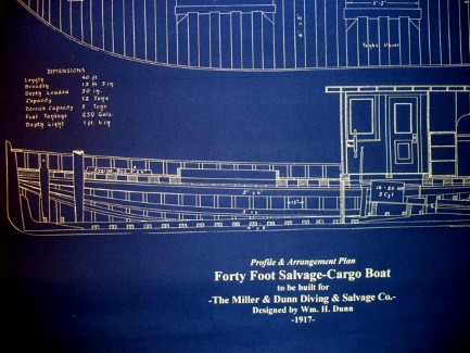 Deep sea commercial diver boat 1917 plan blueprint seajunk click the photos below for better viewing blueprint malvernweather Images