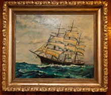 ship's oil painting