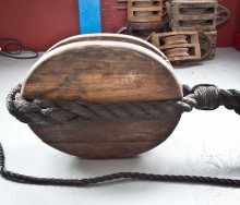 Large Wooden Pulley