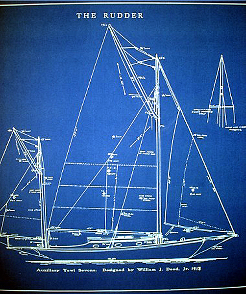 Sailboat yawl 1913 builders blueprint seajunk click the photos below for better viewing malvernweather Images