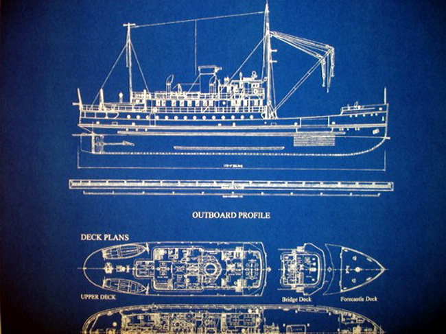Lighthouse Tender Ship Hollyhock 1937 2 Pages